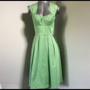 Retro fit Calvin Klein sea foam green dress
